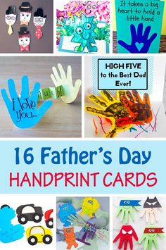 16 Father's Day handprint cards