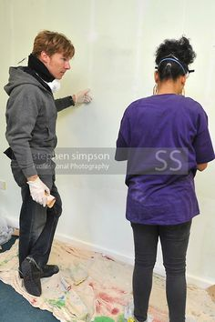 glorious gingerbach helping to paint a school in 2010. Benedict Cumberbatch