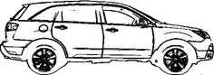Acura MDX Coloring Page - Acura car coloring pages