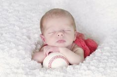 newborn session baseball