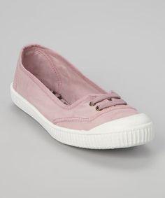 This Rosa Ballarina Inglesa Lona Sneaker by Victoria is perfect! #zulilyfinds