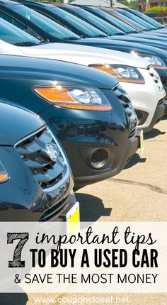 Here are 4 used car buying tips to help you save money the next time you need to buy a car. used cars 7 Used Car Buying tips to Save You Money Automobile, Assurance Auto, Go Car, Buy A Car, Car Buying Tips, Buying Your First Car, Car Purchase, Limousine, Car Hacks