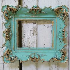 Ornate wood gesso frame wall hanging chippy by AnitaSperoDesign