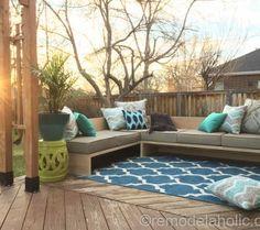 Plywood Pretty: DIY Outdoor Sectional Sofa Tutorial + Building Plan