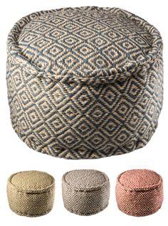 Diamond pattern handloom pouffe, jute, 50 x 50 x Comfy Sofa, Comfortable Sofa, Living Room Modern, Living Room Sofa, Best Sofa, Fashion Room, Sofa Furniture, Diamond Pattern, Sofa Design
