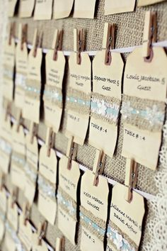 Wedding Escort Card Board Wedding Picture Display by RusticBella, $55.00