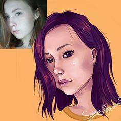 Digital portrait. Painttool SAI. Comission