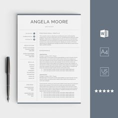 Professional ResumeCv Template By Gresume On Creativemarket