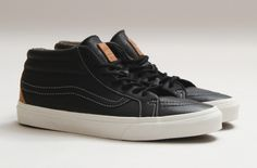 Vans Sk8 Mid Leather Black Brown