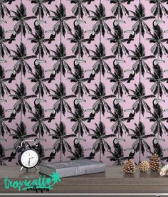 Toucan and Palm Wallpaper  Removable Wallpapers  by TropicWall