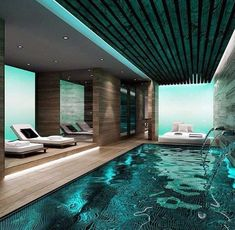 A swimming pool is the ultimate backyard amenity. … When pools include water features, unique lighting, speciality materials and design features Underground Swimming Pool, Swimming Pool House, Best Swimming, Indoor Swimming Pools, Swimming Pool Designs, Design Studio Office, Office Interior Design, Office Interiors, Spa Design