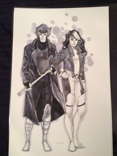 Gambit and Rogue 3 Comic Art