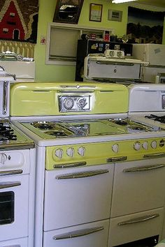 Large Selection of vintage stoves by Carolinas Antique Appliances, via Flickr