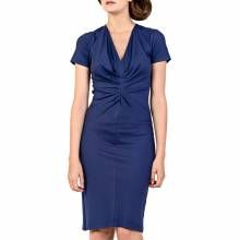 Blue Helix Ruched Front Dress