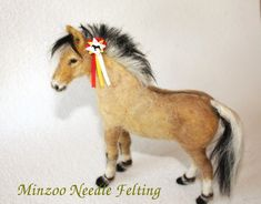 felted horse fjord pony by minzoo (1)