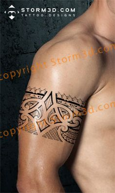Tribal armband/legband tattoos in Polynesian and Maoristyle designs