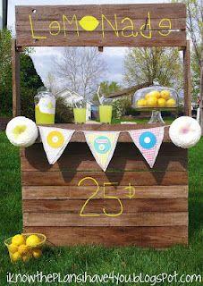 Lemonade Stand -- DIY --