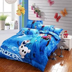 Blue Frozen Princess and Olaf Duvet Cover Cotton Bedding -Frozen Bedding Sets-Disney Bedding Sets Frozen Bedding, Frozen Quilt, Disney Bedding, Mickey Mouse Bett, Mickey Mouse Room, Queen Size Comforter Sets, Queen Bed Sheets, Bed Linen Sets, Bed Sets