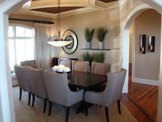 Leather Grey Chairs in Dining Rooms