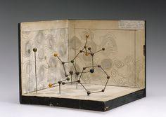 Molecular model of Penicillin by Dorothy Hodgkin (Science Museum London) Victoria And Albert Museum, X Ray Crystallography, Science Museum London, Science Art, Science Geek, Illustrations, Cartography, Chemistry, Vintage World Maps