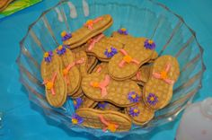 Flip Flop cookies made for pool party.