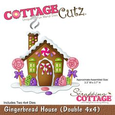 CottageCutz Gingerbread House (Double 4x4)