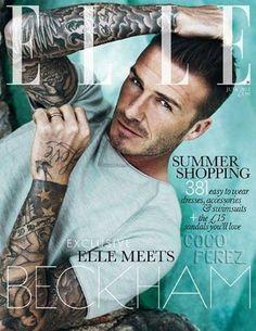 David Beckham shot for Elle UK, July 2012