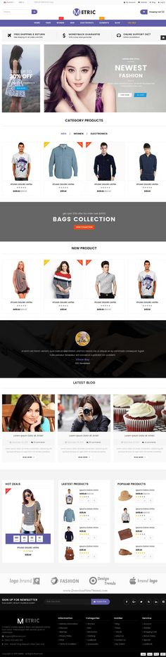 Metric- Ultimate eCommerce Responsive Bootstrap HTML5 #Template for multipurpose online #shop #website. has 58 Pages, 10 Variations and 5 Predefined Colors.