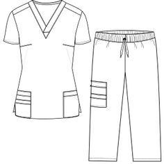 Stethoscope pattern. Use the printable outline for crafts