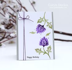 Happy Birthday (purple) by Glitter Me Silly - Cards and Paper Crafts at Splitcoaststampers