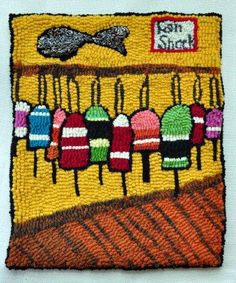 Online portfolio of fabric artist Donna Hutchinson, featuring her Nova Scotian hooked mats, rugs, bowls and other artful creations.