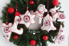 """Купить """"Праздник"""" Набор новогодних игрушек - красный, рождество, Праздник, Новый Год"""