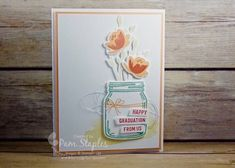 Jar of Love Graduation Card for Paper Craft Crew Color Challenge 198 created by design team member Pam Staples. #stampinup #pamstaples #jaroflove