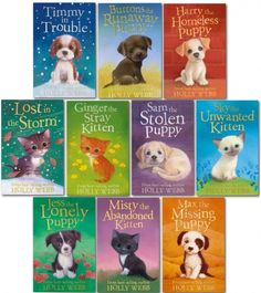 Holly Webb Series 1 Puppy and Kitten 10 Books Collection Animal Stories Pet Rescue  Books 1 to 10 #AnimalRescue #Puppy #Kitten #Book #ChildrensBook   http://www.snazal.com/holly-webb--series-1--puppy-and-kitten-10-books-collection-s--DEALMAN-UD-HW-10bksS1(1-10).html