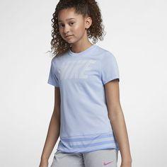 Nike Dri-FIT Big Kids' (Girls') Short Sleeve Training Top Big Kids, Kids Girls, Kids Sportswear, Training Tops, Short Girls, Nike Dri Fit, T Shirts For Women, Fitness, Gym