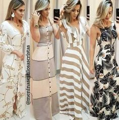 Pin by Katiuska on Vestidos in 2019 Casual Dress Outfits, Summer Fashion Outfits, Trendy Dresses, Trendy Fashion, Nice Dresses, Fashion Dresses, Cute Outfits, Long Dresses, Dresses Dresses