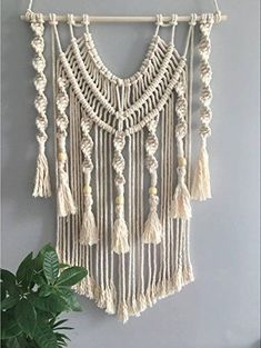 Macrame Wall Hanging Diy, Macrame Curtain, Hanging Tapestry, Wall Tapestry, Art Macramé, Amazon Home Decor, Decoration Ikea, Macrame Design, Handmade Crafts