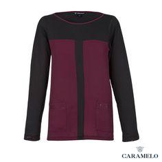 Camiseta de manga larga con bolsillos delanteros de la Colección Femenina Otoño/  Ivierno 2013/2014 de Caramelo