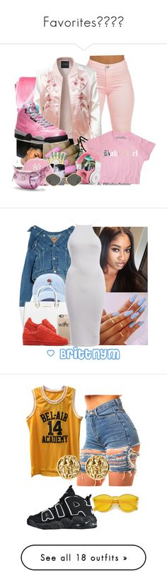 """""""Favorites"""" by marleymal ❤ liked on Polyvore featuring RHIÉ, LE3NO, Victoria's Secret, Juicy Couture, Nicki Minaj, NIKE, Balenciaga, Forever 21, Michael Kors and adidas Originals"""