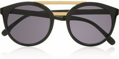 Le Specs Black Lagoon round-frame acetate sunglasses on shopstyle.com