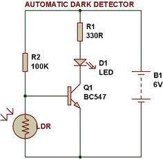 Dark/Light sensor using transistor | BUILD CIRCUIT