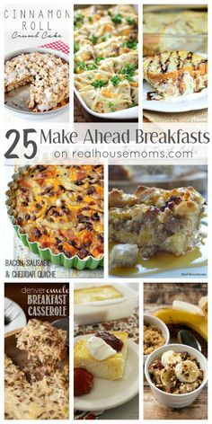 Five Approaches To Economize Transforming Your Kitchen Area Help Make Your Mornings A Little Easier With 25 Make Ahead Breakfast Recipes That Are A Hit With The Family Great For Holiday Brunch Or Weekend Breakfast Breakfast Casserole With Bread, Breakfast Dishes, Breakfast Recipes, Breakfast Ideas, Make Ahead Meals, Make Ahead Breakfast, Breakfast Time, Easy Meals, Brunch Recipes