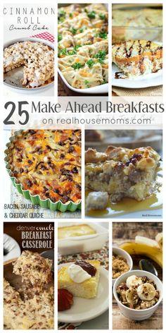 25 Make Ahead Breakfasts on Real Housemoms