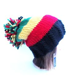 Rasta hat black red green yellow slouch hat slouchy by Johannahats
