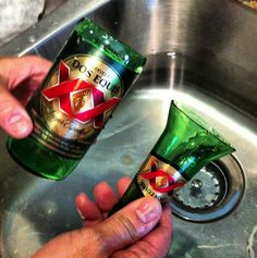 Repurpose a beer bottle in to a drinking glass!!!