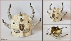 white horned mask_ by SMartin777