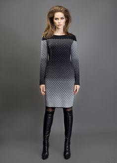 viola stils DRESS. Fashionable dress. Jacquard