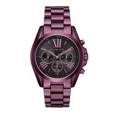 Relógio Michael Kors Feminino Ref  Mk6398 4pn Roxo Relógios Masculinos,  Acessórios Femininos, ebad98b757