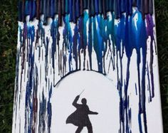 Harry Potter/Wizard Melted Crayon Art