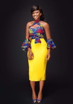 Say no more! Let the Akosua Two Piece do the talking at a dinner date. Made with love by Afri-Ken by Nana. Order your Akosua Two Piece in our shop today. #africanfashion #african #fashion #classy